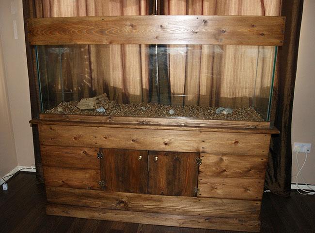 деревянная тумба под аквариум