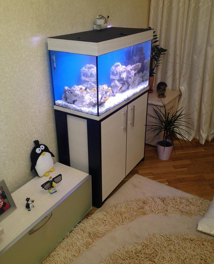 аквариум на тумбе