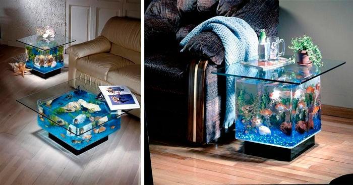 аквариум-журнальный столик