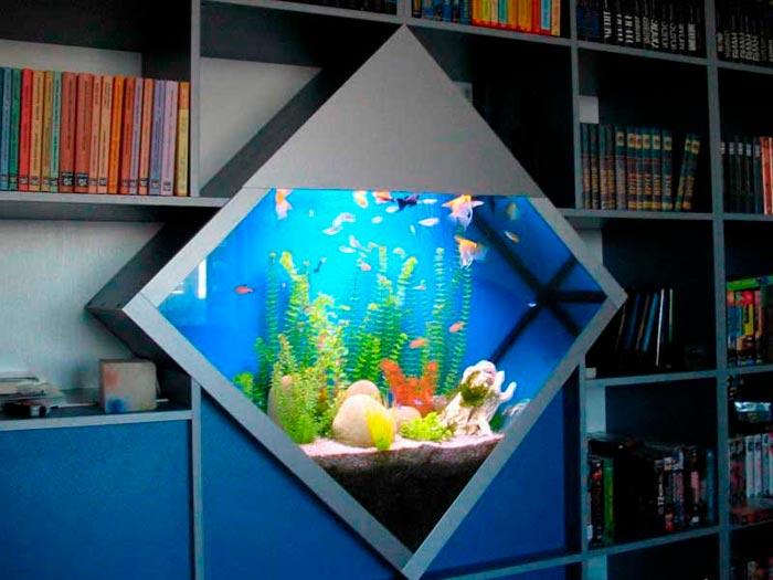 встроенный аквариум в детской