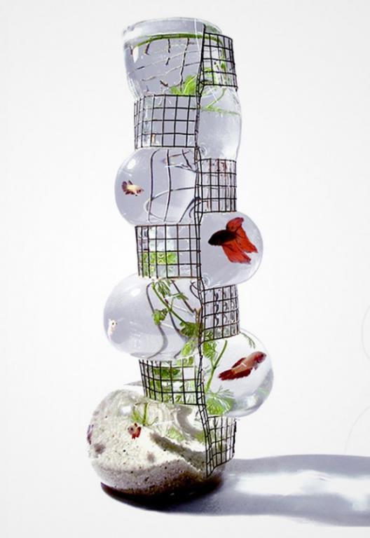 аквариум в виде вазы